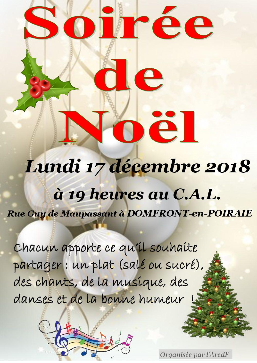 Repas de Noël 2018 à Domfront